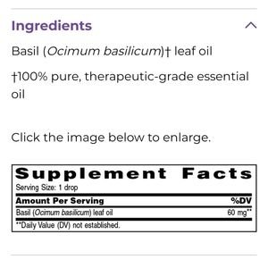 Young Living Other - #5004 🆕️Basil Vitality Young Living EO *5ml